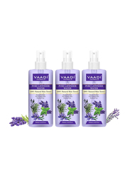 Vaadi Herbals Lavender Water 100% Natural and Pure Skin Toner, 250ml, 3 Pieces
