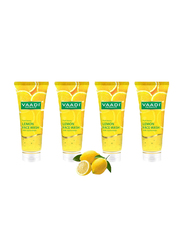 Vaadi Herbals Skin Hydrating Organic Lemon Face Wash, with Jojoba Beads, 60ml, 4 Pieces