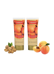 Vaadi Herbals Face & Body Organic Scrub, with Walnut & Apricot, 110gm, 2 Pieces
