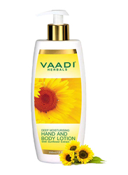 Vaadi Herbals Hand & Body Lotion, with Sunflower Extract, 350ml