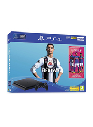 Sony PlayStation 4 Console, 500GB, with 1 Controller and 1 Game (FIFA 19 Ultimate Team Icons and Rare Player Pack), Black