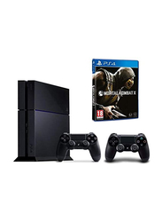 Sony PlayStation 4 Console, 500GB, with 1 Wireless Controller and 1 Game (Mortal Kombat X), Black