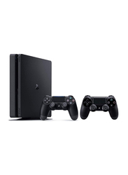 Sony PlayStation 4 Console, 500GB, with 2 Controllers, Black