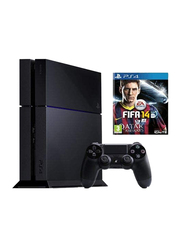 Sony PlayStation 4 Console, 500GB (NTSC), with 1 Wireless Controller and 1 Game (FIFA 14), Black