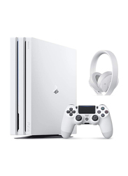 Sony PlayStation 4 Pro Console, 1TB, with 1 Controller and Sony PS4 Wireless Headset, White