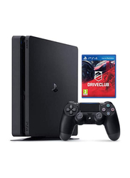 Sony PlayStation 4 Slim Console, 500GB, with 1 Wireless Controller and 1 Game (Drive Club), Black