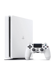 Sony PlayStation 4 Console, 500GB, with 1 Wireless Controller, White
