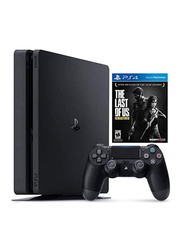 Sony PlayStation 4 Slim Console, 500GB, with 1 Wireless Controller and 1 Game (Last Of Us Remastered), Black