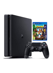 Sony PlayStation 4 Slim Console, 1TB, with 1 Wireless Controller and 1 Game (Crash Bandicoot: N.Sane Triolgy), Black