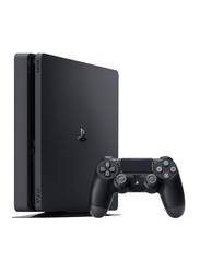 Sony PlayStation 4 Slim Console, 500GB, with Controller and 1 Game (Gran Turisma Sport), Black