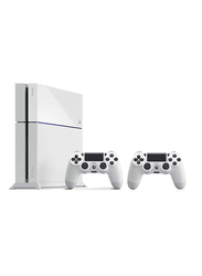 Sony Launch Edition PlayStation 4 Console, 500GB, with 2 DualShock Wireless Controllers, White