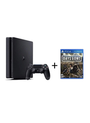 Sony PlayStation 4 Slim Console, 500GB, with 1 Wireless Controller and 1 Game (PS4 Days Gone), Black