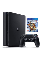 Sony PlayStation 4 Slim Console, 500GB, with 1 Wireless Controller and 1 Game (Just Cause 3), Black