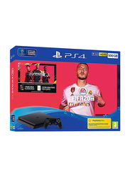 Sony PlayStation 4 Console, 500GB, with 1 Controller and 1 Game (FIFA 20), Black