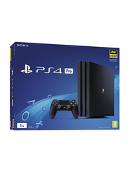 Sony PlayStation 4 Pro Console, 1TB, with 1 Controller and 6 Games (Uncharted 4, Little Big Planet 3, Ratchet & Clank, Bloodbornea and Wipeout and Last Of Us), Black