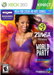 Zumba Fitness World Party Video Game for Xbox 360 by Majesco