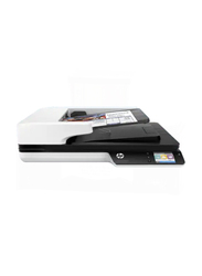 HP ScanJet Pro 4500F1 Network Flatbed Scanner, 1200DPI, White