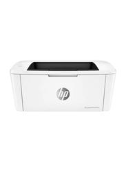 HP LaserJet Pro M15W Mono Black and White Laser Printer, White