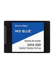 Western Digital 500GB SSD 2.5 Inch 3D Nand Sata Hard Drive, Wds500g2b0a, Blue