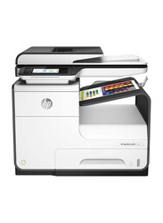 Hp Pagewide 477dw Wireless Multifunction Color All-in-One Printer, White/Grey