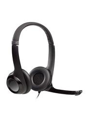 Logitech H390 On-Ear Head Set, with External Mic, Black