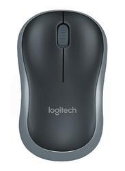 Logitech M185 Wireless Optical Mouse, Black/Grey