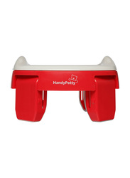Roxy Kids 3-in-1 Foldable Compact Baby Potty for Travel/Home/Toilet Seat, Red
