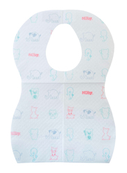 Nuby Disposable Bibs, 10 Pieces, White