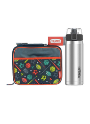 Thermos Standard Lunch Kit with LDPE Liner + Stainless Steel Hydration Bottle SBK 530ml Combo Set, Sports, Multicolor