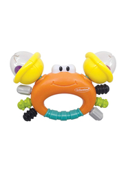 Infantino Sand Baby Rattle & Teether, Crab, Multicolor