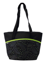 Thermos Raya-9 Can Lunch Tote Bag for Kids, Green Dot, Black/Green