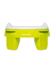 Roxy Kids 3-in-1 Foldable Compact Baby Potty for Travel/Home/Toilet Seat, Green