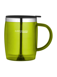 Thermos 350ml Stainless Steel with Plastic Cover Desktop Mug, Lime Green