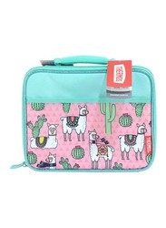 Thermos Standard Lunch Kit for Kids with Ldpe Liner, Desert Lamas, Pink/Blue