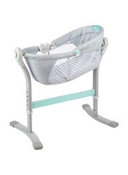 Summer Infant By Your Bed Sleeper Bassinet, Teal/Grey Stripe