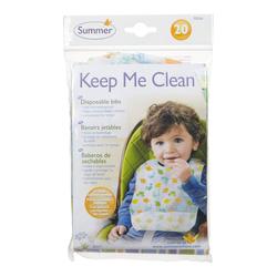 Summer Infant Keep Me Clean Disposable Bibs, 20 Pieces, Multicolor