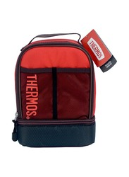 Thermos Sport Mesh Dual Lunch Kit for Kids, Maroon/Red