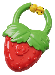 Infantino Vibrating Baby Teether, Strawberry, Red/Green