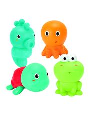 Infantino 4-Piece Senso Plug & Squirt Aquarium Bath Toys