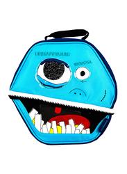 Thermos Novelty Lunch Bag, Fun Faces Hexagon, Blue