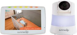 Summer Infant Baby Color Video Monitor In View 2.0 with Night Vision, White/Purple