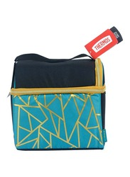 Thermos Raya-Dual Large Lunch Bag for Kids with LDPE, Liner Fragment, Black/Blue