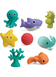 Infantino 8-Pieces Aquarium Bath Squirters Set for Kids, Multicolor