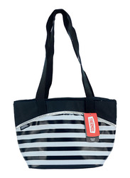 Thermos Raya-9 Can Lunch Tote Bag for Kids, Stripe, Black/White