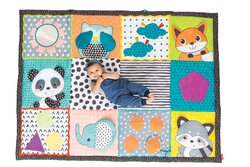 Infantino Fold & Go Giant Discovery Baby Mat, Multicolor