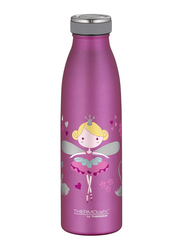 Thermos 500ml Thermocafe Princess Double Wall Stainless Steel Insulated Bottle, Pink