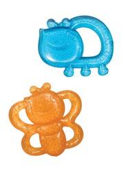 Infantino Garden Pals Baby Teether, 2 Pieces, Orange/Blue