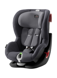 Britax Romer King II LS Black Series Car Seat, Group 1, 9 Months To 4 Years, Storm Grey