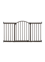 Summer Infant Metal 6 Foot Wide Extra Tall Walk-Thru Expansion Gate, Brown
