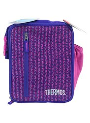 Thermos Uprights with Ldpe Liner Lunch Bag for Girl, Pink/Blue
